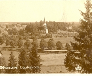 Skats uz Bērzauni, 1930. gadi. V. Upītis