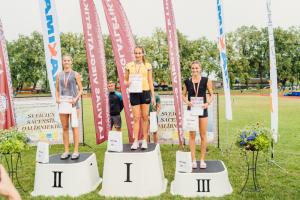 Laura Dūma 100m barjerskrējienā sudras_LČ U20